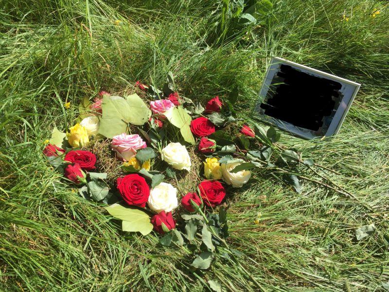Trauerbegleitung Kälin - Blumengrab in der Natur